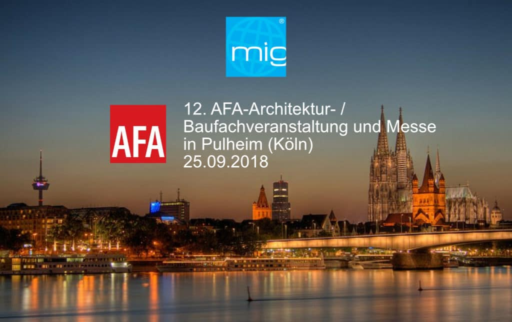 201808mig afa cologne 1024x645 - AFA Architects and Building Trade Event